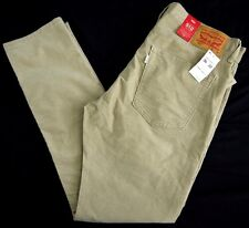 NWT $69 LEVIS 512 tan corduroy pants jeans mens 36x32 SLIM TAPERED cords brown
