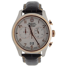 "$595 Wenger Swiss Army Rose Gold ""Zermat"" Chronograph Watch 79020"