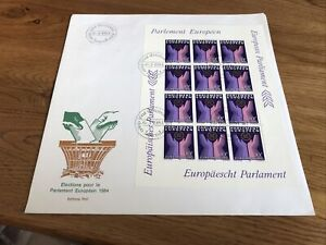 Luxembourg 1984 European Parliament  FDC Unaddressed VGC