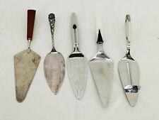✅ 5 Tortenheber Konvolut verschiedene Modelle Farbe Silber
