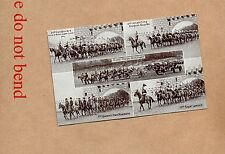 1920's Aldershot Military Tattoo card 2 Hussars and Lancers multi shot art