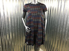 LuLaRoe Carly Scoop Neck Short Sleeve Red White Blue Dress Pocket Size XXS NEW