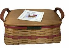 Longaberger Christmas 2002 Traditions Basket Solid Lid, Protector & Dowel NICE!