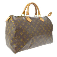 LOUIS VUITTON SPEEDY 35 HAND BAG MONOGRAM CANVAS LEATHER M41524 SP0937 A41323k