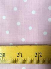 Joann Fabrics White Polka Dots on Pink for Baby Girls!