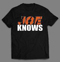 QB JOE KNOWS FOOTBALL HIGH QUALITY FRONT PRINT SHIRT *MANY OPTIONS*