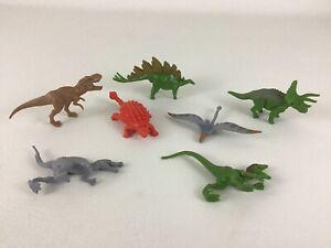 Jurassic World Dinosaur Mini Figures 7pc Lot T-Rex Velociraptor 2015 Hasbro A2