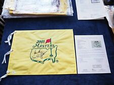 ARNOLD PALMER JACK NICKLAUS GARY PLAYER signed MASTERS OFFICIAL FLAG AUGUSTA JSA