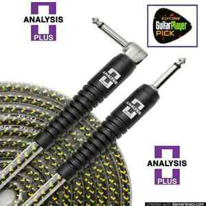 Analysis Plus 10ft Yellow Oval Guitar / Bass Cable with Straight/Straight Plugs