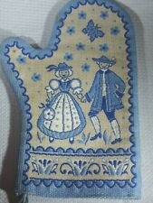 New listing Vintage Dutch Colonial Couple Blue Oven Mitt