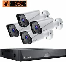 Toguard Home Security Camera System 4pcs1080P Cameras 8Ch Dvr Outdoor Waterproof