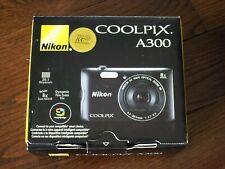 Brand New Nikon Coolpix A300 20.1MP Digital Camera Wi-Fi 8X Optical Zoom - Black