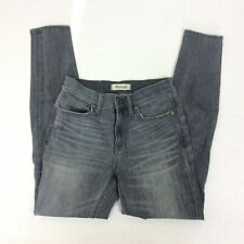 Madewell 9 High Rise Skinny Gray Color Denim Jeans Stretch Womans 25