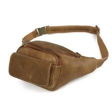 Mens Vintage Genuine Leather Backpack Cross Body Shoulder Bag Bum Waist Belt Bag