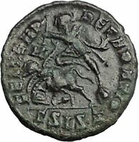 CONSTANTIUS II Constantine the Great son Ancient Roman Coin Battle Horse i54855