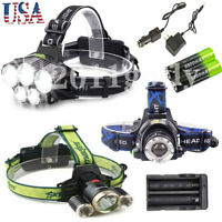 100000LM T6 LED Headlamp Head Torch 18650 Headlight Work Light Lamp + Charger