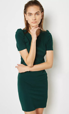 7c754c9d836 Dorothy Perkins Puff Sleeve Bodycon Dress Green Size UK 20 Dh091 HH 06