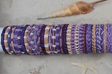 30 PIECES MIX PURPLE LEATHER SURF FRIENDSHIP BRACELETS WRISTBAND WHOLESALE /b059