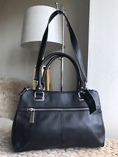 Tignanello black genuine leather medium handbag shoulder bag New