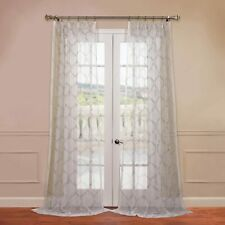 Half Price Drapes-Embroidered Sheer Curtain(1 Panel)-50 X 96-NEW-FAST SHIPPING