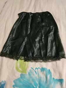 Vintage Victoria Secret liquid Satin Slip Skirt Size Medium