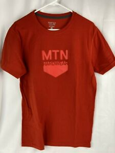 Mountain Hardwear Mens Red Camping Hiking Outdoors Logo S/S T-Shirt M