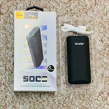 ASPOR 5000mAh Power Bank Portable Battery Pack Charger For Phones Slim UK