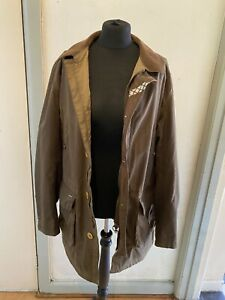 BARBOUR TATTERSALL WAXED GREEN  SIZE  L