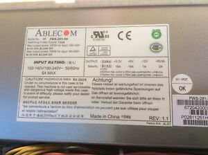 SuperMicro Ablecom PWS-281-1H 100-240V 50-60Hz 5A 280W Switching Power Supply