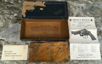 HTF 1950's Smith & Wesson Highway Patrolman 375 Revolver Model 28 Box paperwork