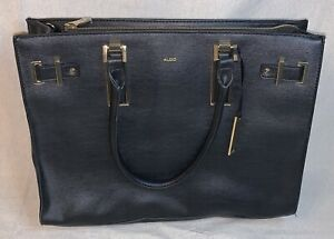 Aldo Leather Women's Business Briefcase Shoulder Bag Black