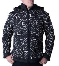 Chaqueta de punto hombre algodón CON FORRO FLEECE y capucha Extraíble