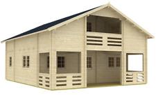 Blockhaus Serena 70-Iso 7,95 x 9,70m Wochenendhaus mit 2 Etagen 147,4m² Fläche
