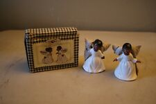 Cobble Creek African American Kissing Angel Bells Brand New