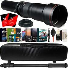 650mm-1300mm Telephoto Zoom Lens for Pentax K-30 K-7 K-5 K-01 K-R Accessory Kit