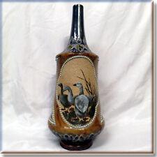 Antique Doulton Lambeth Pâte-sur-pâte Vase by artist FLORENCE BARLOW - RESTORED
