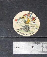 DELANDRE CINDERELLA VIGNETTE PATRIOTIQUE GUERRE 14-18 HONNEUR & VICTOIRE WWI