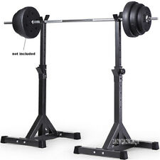 Heavy 2pcs Adjustable Squat and Weights Rack For Home gym fitness!