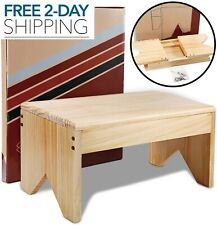 Wooden Step Stool For Adults - Very Study, Bed Stool For High Beds, Kitchen