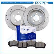 Fits 1994 - 2004 Ford Mustang Cobra Mach 1 Rear Brake Discs Rotors Ceramic Pads