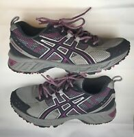 Womens Asics Gel-Enduro 7 Trainer Purple / Gray Shoes - T1G5N - size 7.5