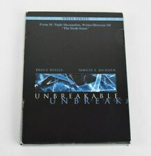 M. Night Shyamalan Unbreakable DVD Set Bruce Willis Samuel L Jackson Sixth Sense