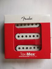genuine fender tex mex pickup set white covers 099-2131-000