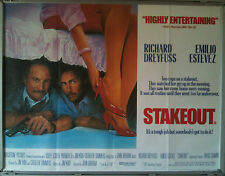 Cinema Poster: STAKEOUT 1987 (Quad) Richard Dreyfuss Emilio Estevez Aidan Quinn