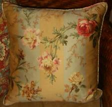 Ralph Lauren Highfields Floral Large Stripe 18x18 Square Decorative Toss Pillow