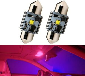 LED Light Canbus Error Free DE3021 3W Red Two Bulbs Interior Dome Replace Fit