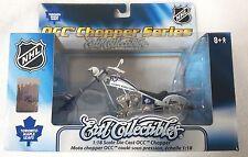TORONTO MAPLE LEAFS NHL OCC CHOPPER ORANGE COUNTY CHOPPER BIKE DIECAST 1:18 SCAL