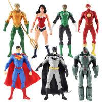 7 Pcs Justice League DC Superman Wonder Woman Batman Flash Action Figure Toys