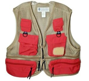 "Vintage 1991 Columbia Sportswear Fly Fishing Mesh Tan Vest Mens XL ""Never Worn"""