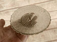 Old Vintage Dessert Bread and Butter Engraving Throughout Glass Pat Plate